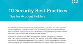 10 Account Holder Tips – Security Best Practices