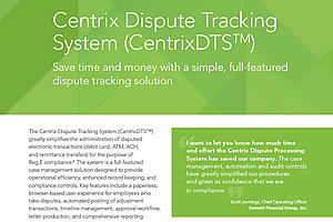 Centrix DTS Product Sheet