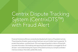 Centrix DTS with Fraud Alerts